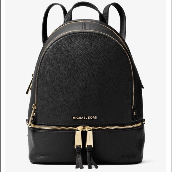 62bf02e26f63c Michael Kors Rhea Large Leather Backpack